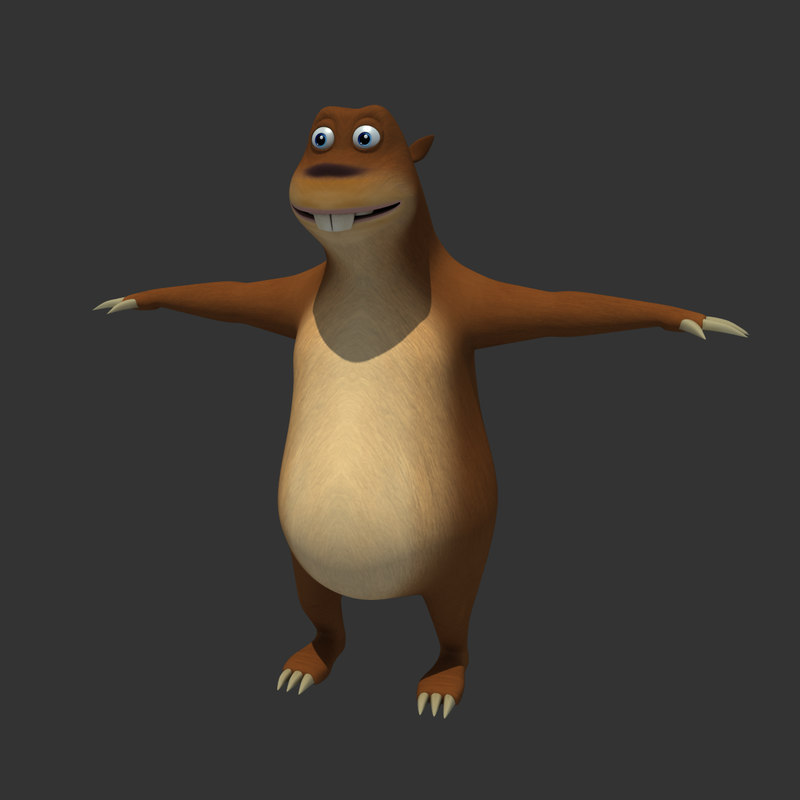 3ds max mole animation