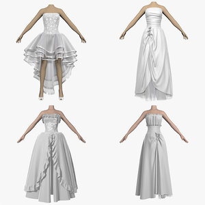 3d dresses wedding