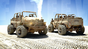3d buggy waste land