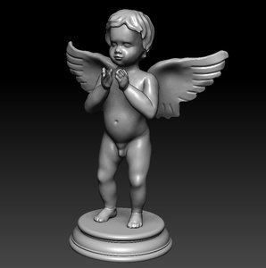 angel statuette 3d 3ds