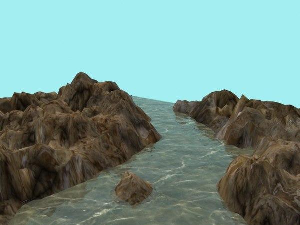 rocks river landscape max