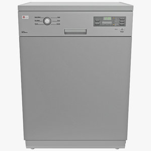 lg dishwasher 2 3d 3ds