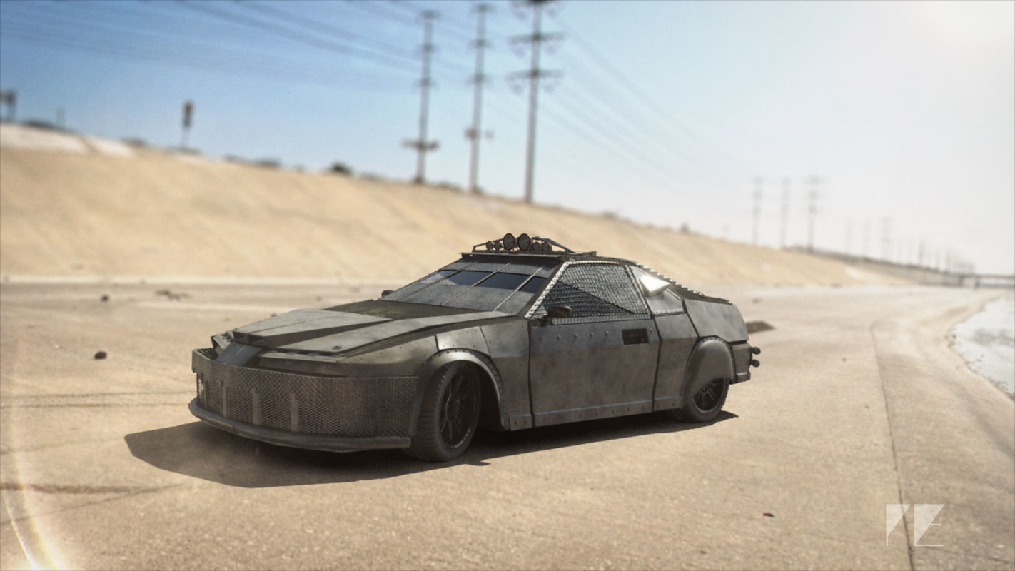 car dystopian armor obj