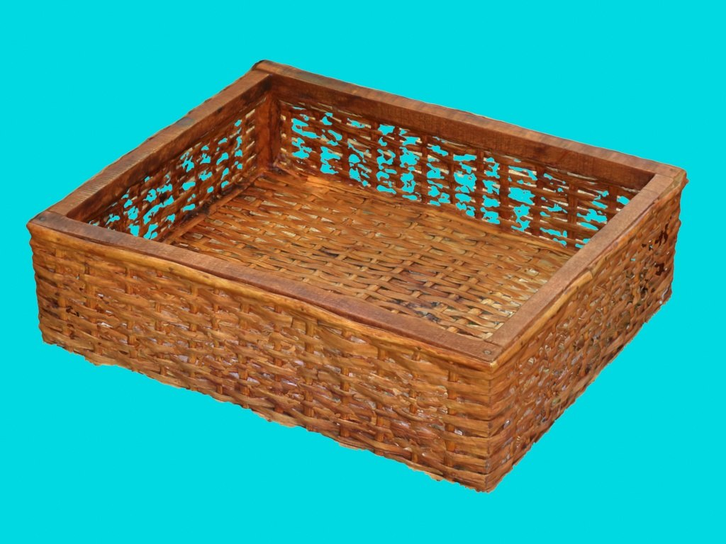 3d old wicker basket model
