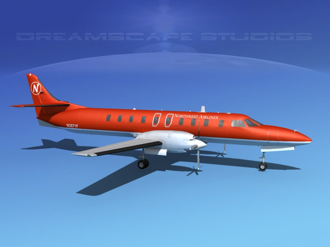 metroliner sa226 airliner swearingen 3d model