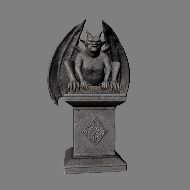 gargoyle statue 3d max