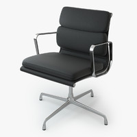 Eames Soft Pad Chair Black