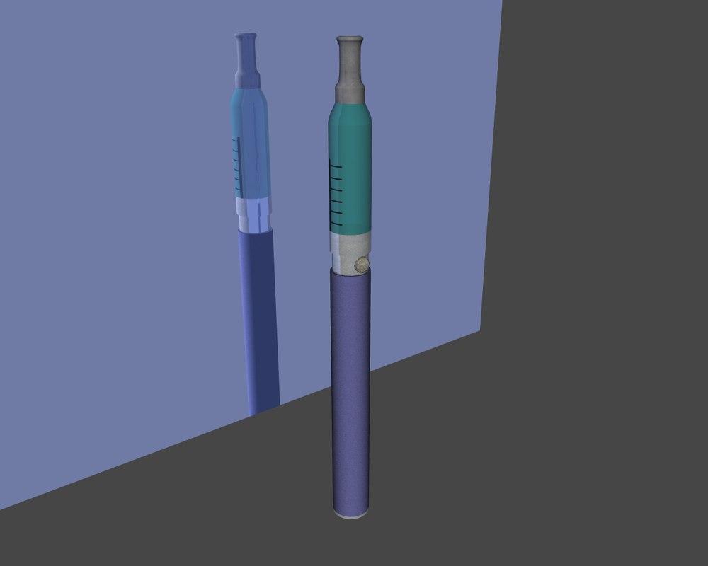 3d e-cigarette cigarette model