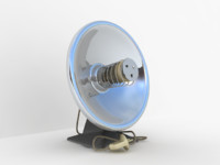 3d model old heat lamp