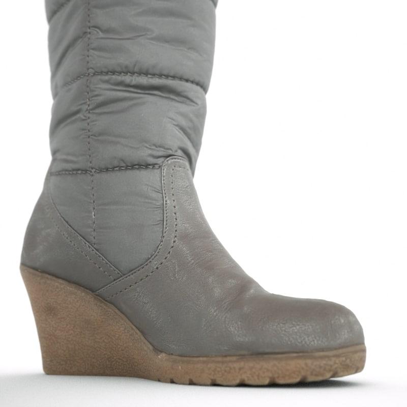 winter wedge boot 3d model
