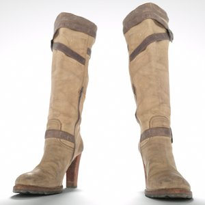 3d kneehigh boots zipper