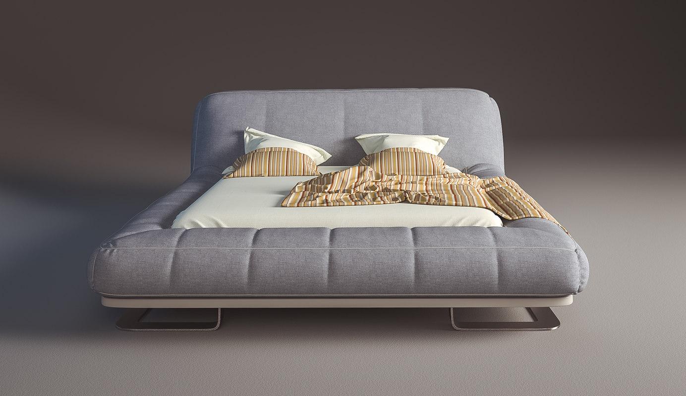 3d bed fabric model
