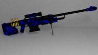 sniper rifle sci-fi rigged fbx free