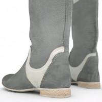 3d obj white grey boots