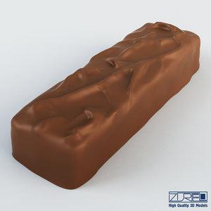 3d mars chocolate bar