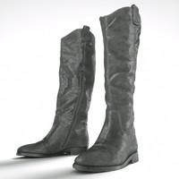 3d black snakeskin boots