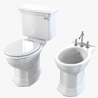Devon & Devon Westminster Toilet & Bidet Set