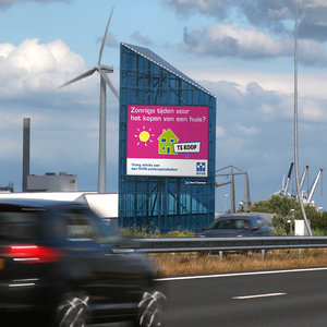 3d model of digital advertising highway sign