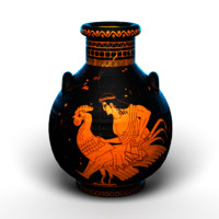 Realistic Ancient Greek amphora / vase/ jar