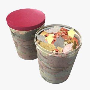 fish food - flakes 3d model