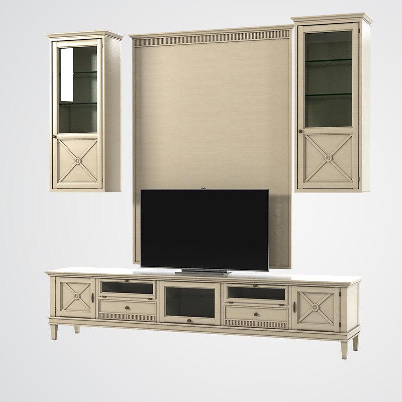 3d tosato living room entertainment model