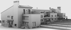 urbanization chalets 3d model