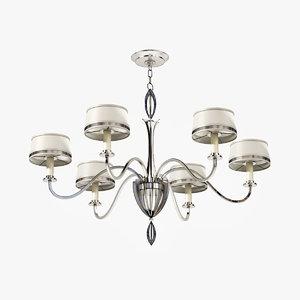 fine lamps staccato silver 3d model