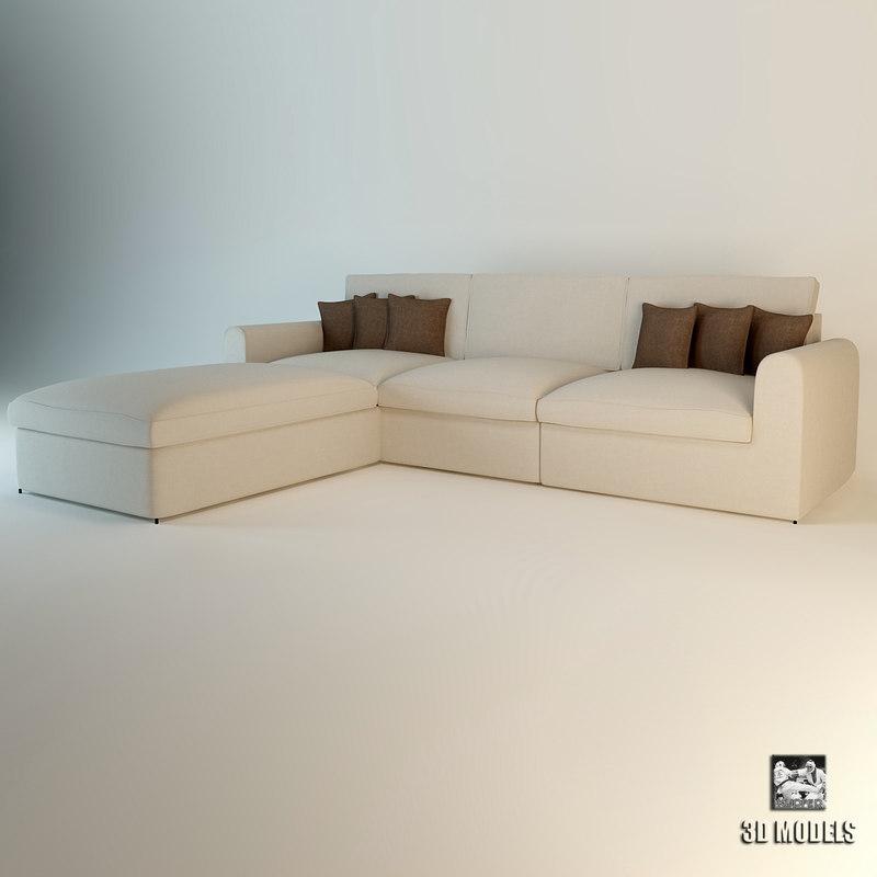 3d model of eichholtz sofa corner miami