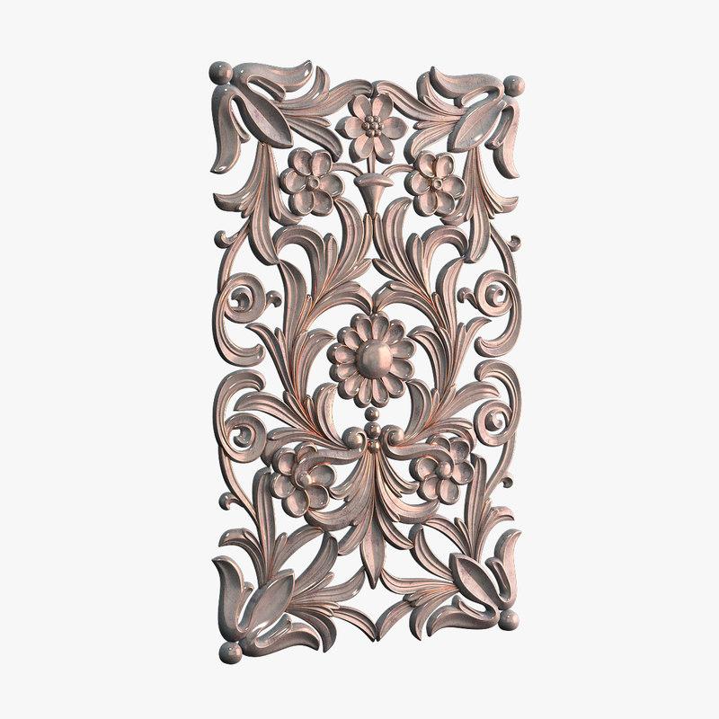 3d model decor door