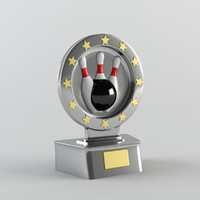 trophy award cup 3d ma