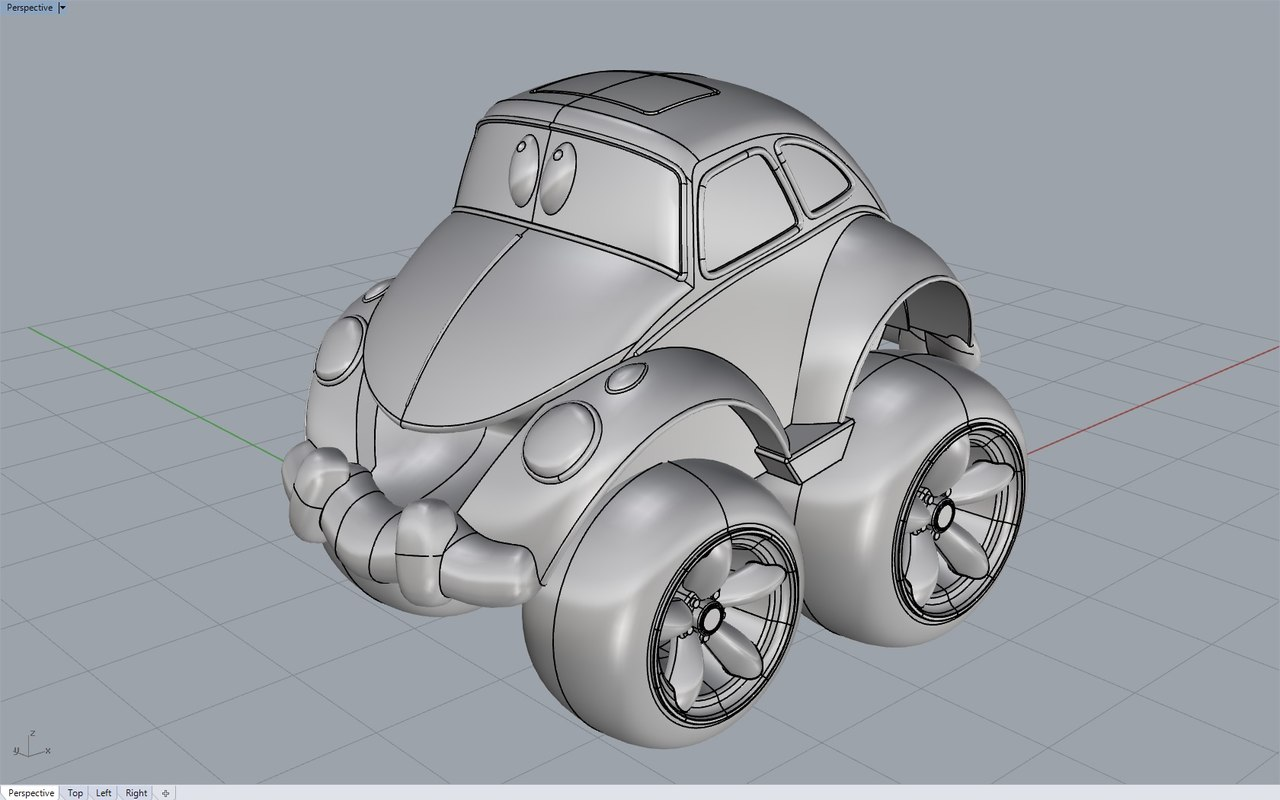 buggy toy car 3d obj