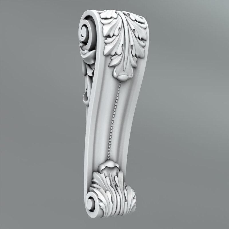 3d max classical decoration ornamental