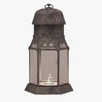 3d model old lantern