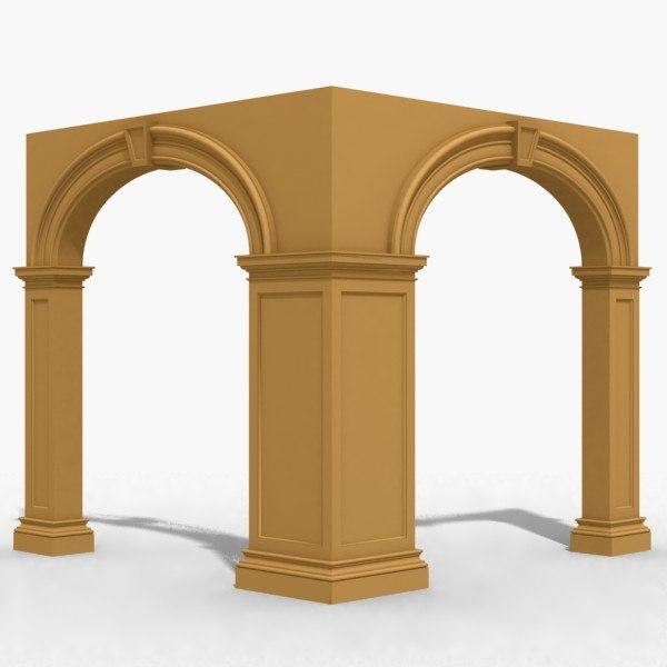 3d model arch