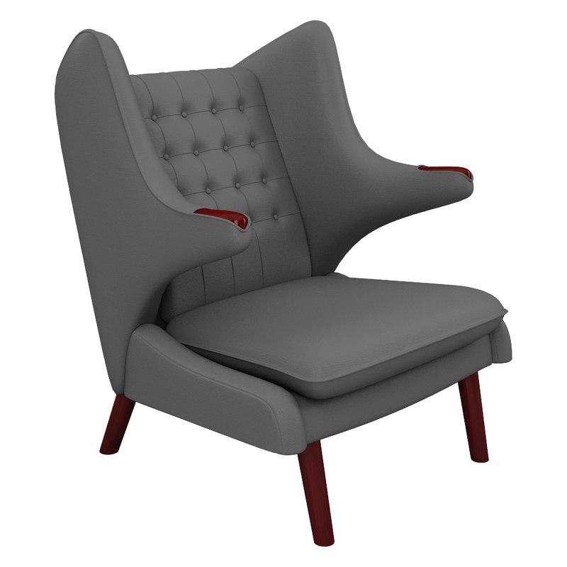 3d papa bear chair model