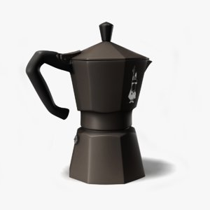 bialetti moka pot 3d model