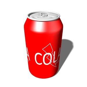 free obj model aluminum cola