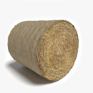 3d model bale hay