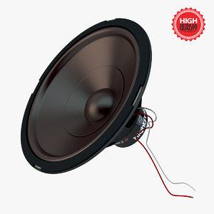 realistic speaker 3d model