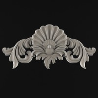 3d ornament cartouches plaster model