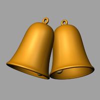 christmas bell chris 3d model