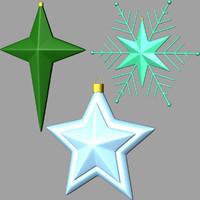 3d model christmas stars