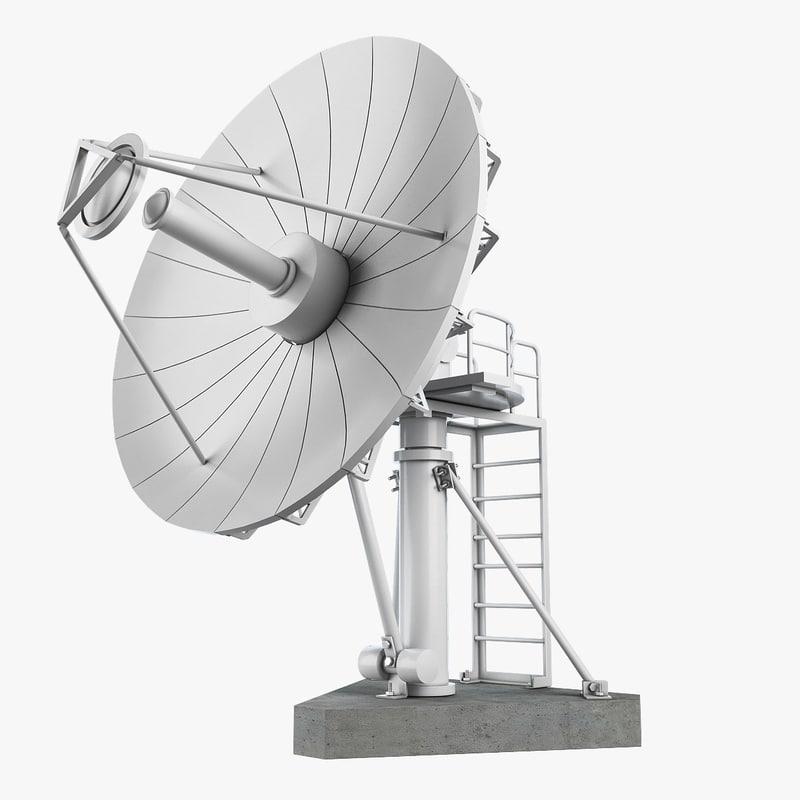 3d model dish antenna