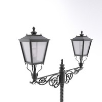 cast iron street lamp 3d model