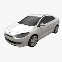 renault fluence gt rigged car 3d max
