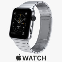 apple watch 42mm stainless steel 3d model