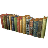 3d realistic books pack 3 model