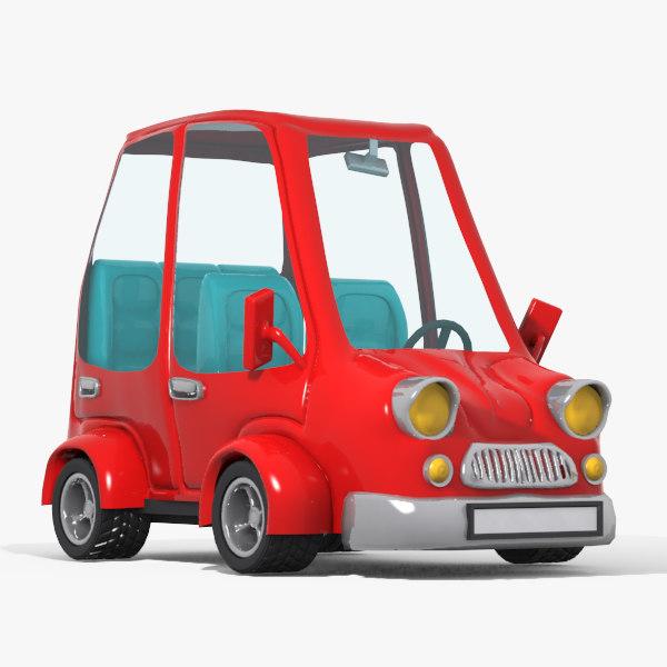 toon cartoon car 3d max