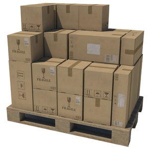 pallet boxes 1 3d model