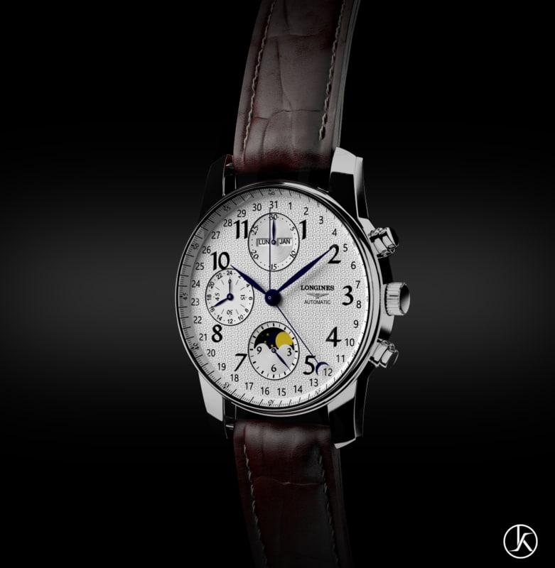 longines watch 3d c4d